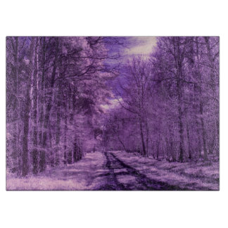 Infrared track through the woods cutting boards
