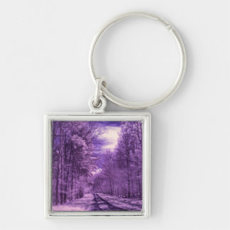 Infrared track through the woods keychain