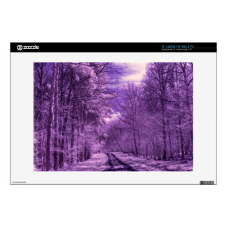 Infrared track through the woods laptop skins