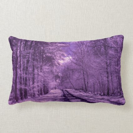 Infrared track through the woods throw pillows