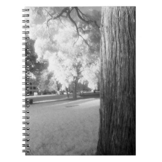 Infrared Tree Spiral Notebook