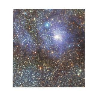 Infrared View Lagoon Nebula Messier 8 M8 NGC 6523 Memo Pad