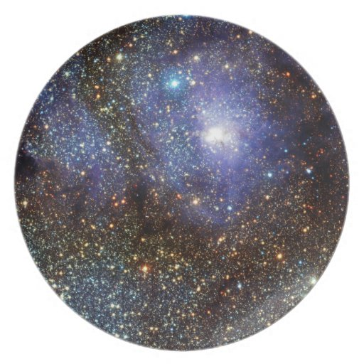 Infrared View Lagoon Nebula Messier 8 M8 NGC 6523 Party Plates