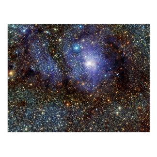 Infrared View Lagoon Nebula Messier 8 M8 NGC 6523 Postcard