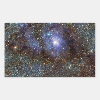 Infrared View Lagoon Nebula Messier 8 M8 NGC 6523 Rectangular Sticker