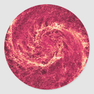 Infrared Whirlpool Galaxy Messier 51a NGC 5194 Classic Round Sticker
