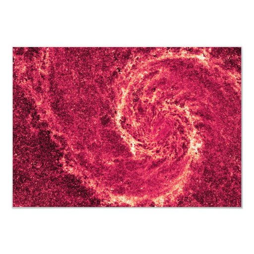 "Infrared Whirlpool Galaxy Messier 51a NGC 5194 3.5"" X 5"" Invitation Card"