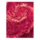 Infrared Whirlpool Galaxy Messier 51a NGC 5194 Postcard