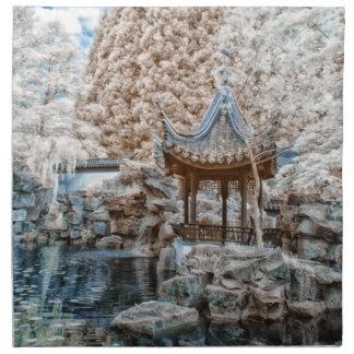 Infrarrojo chino del jardín servilletas