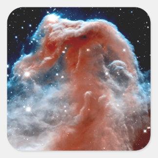 Infrarrojo de la nebulosa de Horsehead Pegatina Cuadrada