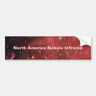 Infrarrojo de la nebulosa de Norteamérica Pegatina De Parachoque