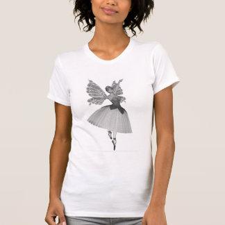 infrarrojo negro y blanco de la bailarina del jugu camiseta