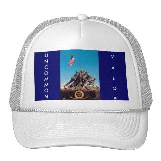 INFRECUENTE conmemorativo de Iwo Jima, VALOR Gorras De Camionero