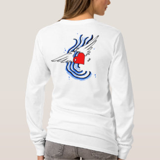 Infringe Heart With Wings Design White Hoodie