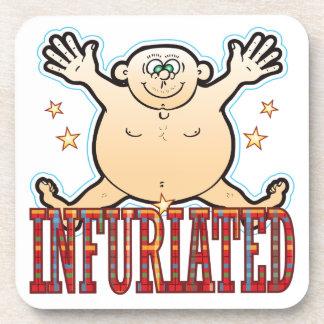 Infuriated Fat Man Drink Coaster