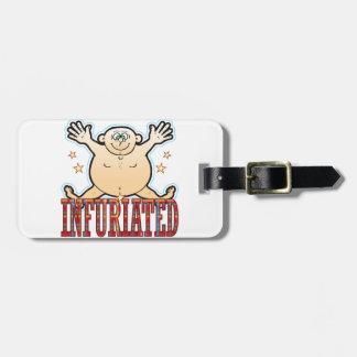 Infuriated Fat Man Luggage Tag