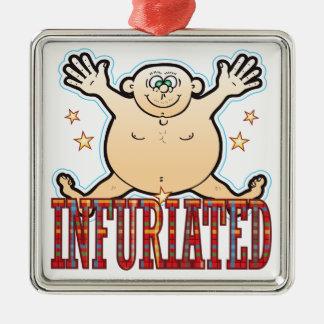 Infuriated Fat Man Metal Ornament
