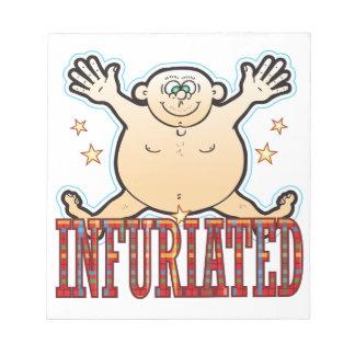 Infuriated Fat Man Notepad