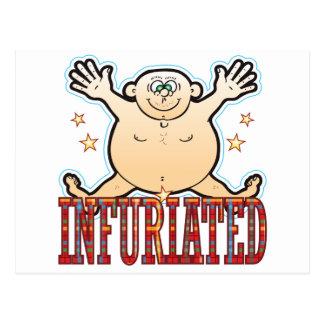 Infuriated Fat Man Postcard