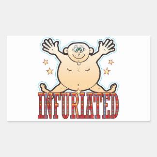 Infuriated Fat Man Rectangular Sticker