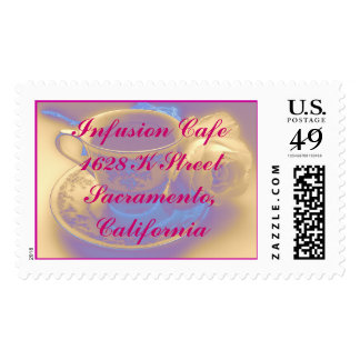 Infusion Cafe Postage Stamp