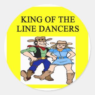 ing de la línea baile etiquetas redondas