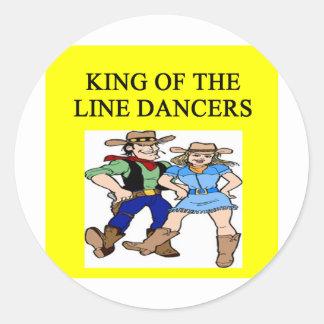 ing de la línea baile etiqueta redonda