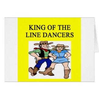 ing de la línea baile tarjeta de felicitación
