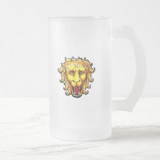 ing Lion Big Game Wild Cat 16 Oz Frosted Glass Beer Mug