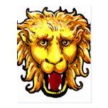 ing Lion Big Game Wild Cat Postcard