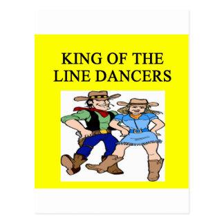 ing of line dancing postcard