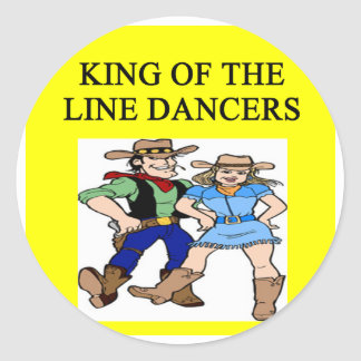 ing of line dancing classic round sticker