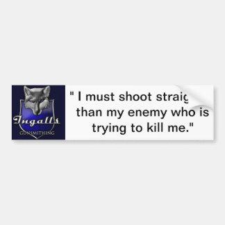 Ingalls Gunsmithing Bumper Sticker Shooter