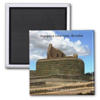 Ingapirca Inca ruins, Ecuador 2 Inch Square Magnet