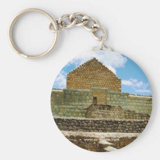Ingapirca Inca ruins, Ecuador Basic Round Button Keychain