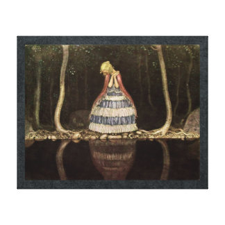 Inge by the Lake Swedish Fairytale Canvas Print