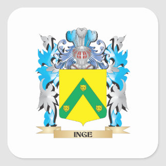Inge Coat of Arms - Family Crest Square Sticker