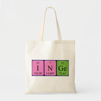 Inge periodic table name tote bag