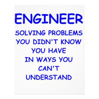 ingeniería del ingeniero membretes personalizados