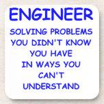 ingeniería del ingeniero posavasos de bebida