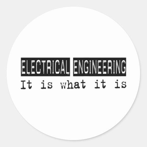 Ingeniería eléctrica es etiqueta redonda