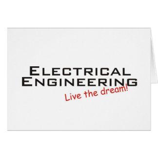 Ingeniería ideal/eléctrica tarjeta de felicitación