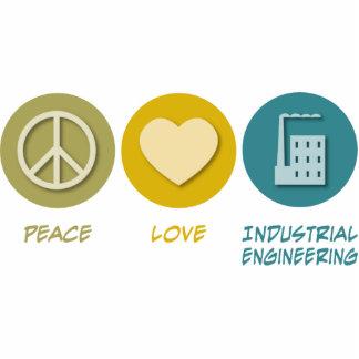 Ingeniería industrial del amor de la paz esculturas fotograficas