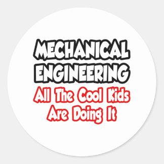 Ingeniería industrial… todos los niños frescos pegatina redonda