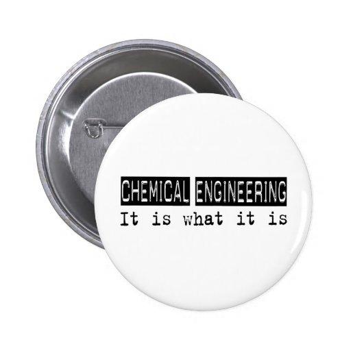 Ingeniería química es pin redondo de 2 pulgadas