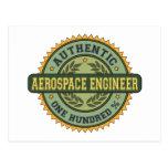 Ingeniero aeroespacial auténtico tarjetas postales