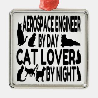 Ingeniero aeroespacial del amante del gato ornamento para reyes magos