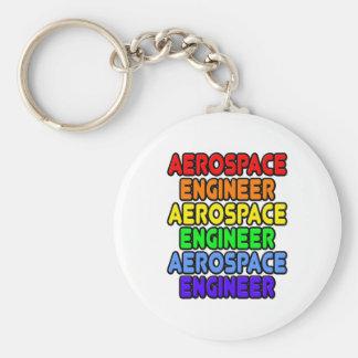 Ingeniero aeroespacial del arco iris llaveros