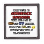 Ingeniero aeroespacial divertido… OMG WTF LOL Cajas De Joyas De Calidad