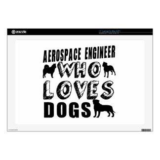 ingeniero aeroespacial que ama perros 43,2cm portátil calcomanías